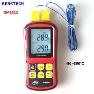Gm1312 Digital K Type Thermocouple Temperature Meter Monitor 50 300 Termometro