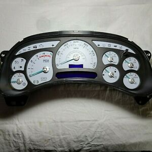 4y 03 04 2003 2004 Escalade Custom White Duramax Diesel Replacement Cluster