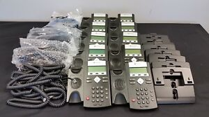 Polycom Lot Of 10 2201 12375 025 Ip 335 Sip Voip Business Phone W Handset