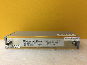Weinschel 150t 11 Dc To 18 Ghz 11 Db 3 5mm f Prog Step Attenuator Tested