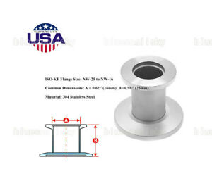 Us Kf25 To Kf16 Vacuum Reducer Straight Conical Adapters Stainless Steel Flange