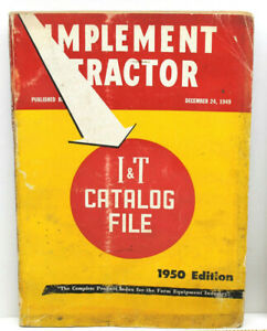 Rare 1950 I T Implement Tractor Catalog File Complete Farm Equipment Index Ref