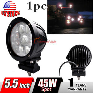1pc 5 5 45w Cree Round Led Work Head Light Spot Fog Driving Roof Lamp Offroad