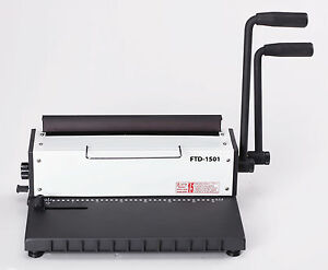 New Wire Binding Machine Binder Comb heavy Duty Manual 2 Loop wire o Binder 3 1