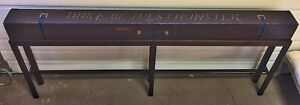 Antique English Fly Rod Case Sofa Table Duke Of Winchester