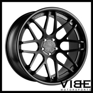 19 Vertini Magic Black Concave Wheels Rims Fits Porsche Cayman R S
