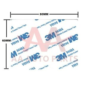 100 X 3m Double Sided Adhesive Foam Tape White Sticky Pads 80mmx60mm