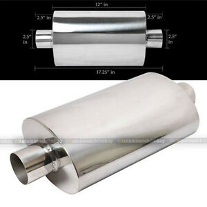 For Sc1 Tipless Weld On Muffler Exhaust Canister 2 5 In outlet