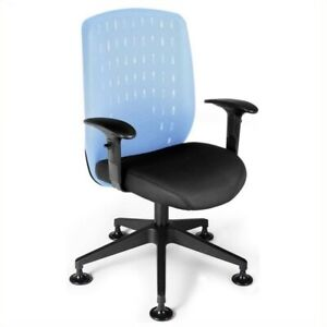 Ofm Vision Executive Guest Chair In Powder Blue Transitional