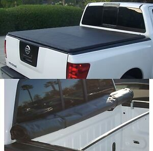 Snap On Roll up Soft Tonneau Cover Fit 14 16 Chevy Gmc Silverado Sierra 5 8ft
