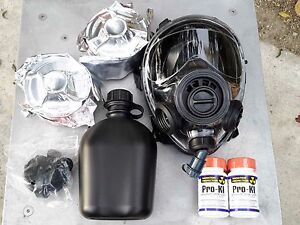 Sge 400 3 Infinity Gas Mask W drink Port Two Multi gas Nbc Filters Exp 12 2022