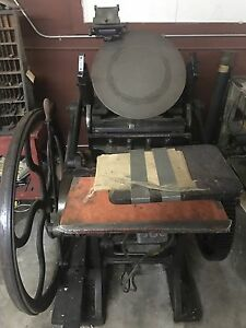 Chandler Price Platen Press 1900 s