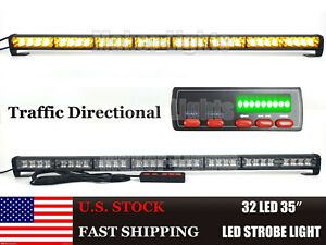 35inch Led Traffic Advisor Emergency Amber Wrecker Truck Warning Strobe Lightbar