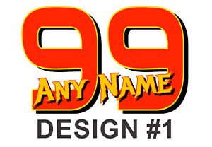 Custom Race Number Vinyl Decal Sticker Any Name Number Race Team You Design