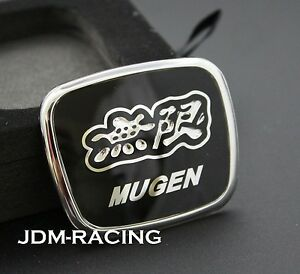 For Honda Mugen Steering Wheel Black Jdm Emblem Civic Accord Hr V Fa5 Fd2 Fg1