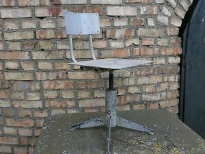 Vintage Retro Swivelling Industrial Office Desk Chair