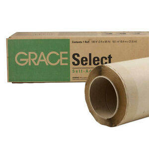 Grace Select Self adhered Roofing Underlayment 3 X 65 Roll
