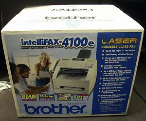 New Brother Intellifax 4100e High Speed Business class Laser Fax Machine