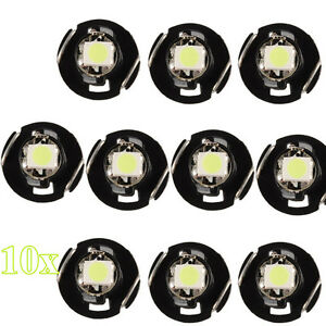 10x T4 T4 2 Neo Wedge Led Bulb Cluster Instrument Dash Climate Base Lights New