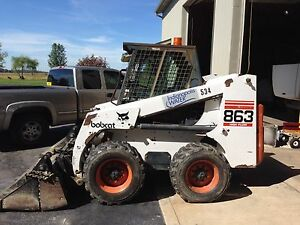Bobcat 863 Runs Great 1998 Year Low Hrs 4 In 1 Bucket