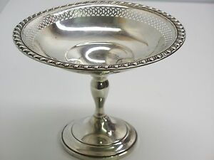 Vintage Bailey Banks Biddle Sterling Silver Weighted Compote
