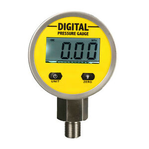 Digital Hydraulic Pressure Gauge 0 250bar 25mpa 3600psi npt1 4 base Entry