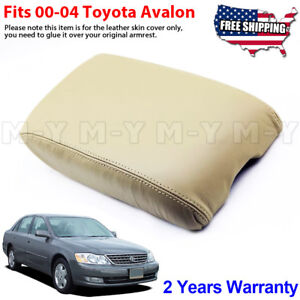Fits 2000 2004 Toyota Avalon Leather Center Console Lid Armrest Cover Beige Tan