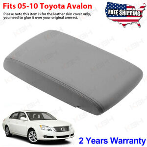 Fits 2005 2010 Toyota Avalon Leather Center Console Lid Armrest Cover Gray