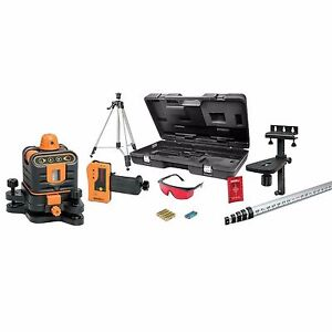 Johnson Professional Contractor Manual Leveling Hand Tool Rotary Laser Level Kit