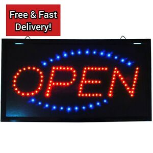 Hanging Led Open Sign Color Display Scrolling Animated Outdoor Neon Flashing New