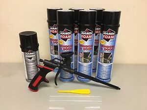 Handi Foam 6 Window Door 24oz 1 Gun Cleaner 12oz Pro Gun Great Stuff