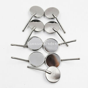 100 Pcs Dental Reflector Odontoscope Equipment Mouth Mirror 4 Stainless Steel