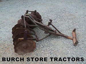 King Plow Company Bog Disc Harrow For John Deere M Tractors