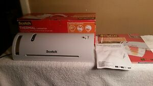 Scotch Thermal Laminator Model Tl902 With Pack Of 25 Pouches