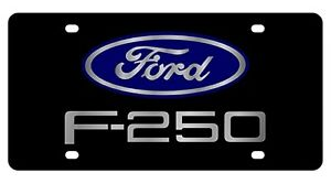 New Ford F 250 Blue Logo Acrylic License Plate