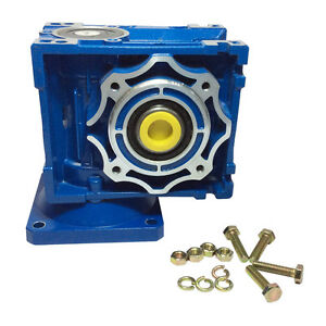Right Angle Gearbox Geared Speed Reducer Rv040 Ratio 1 10 1 15 1 30 1 80