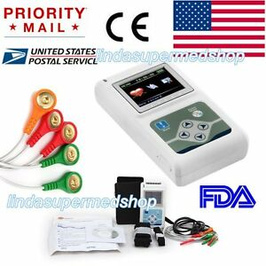 New 3channel 24 Hours Recorder Ecg ekg Holter Monitor System Fda Contec Us