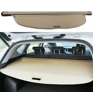 Rear Trunk Shade Cargo Cover Nets For 2014 2015 2016 Nissan X trail Rogue Beige