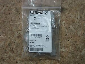 Phoenix Contact Terminal Block St be 2802316 2 Pos New Sealed Bags Of 10