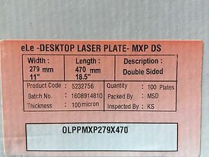 Polyester Plates Laser Plates 11 X 18 5 Hp5000 Xante 2 Sided