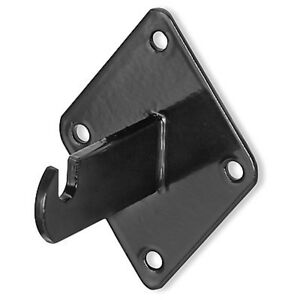 Gridwall Black Metal Wall Mount Display Brackets For Grid Panels 24 Pieces New