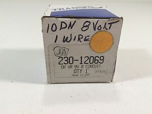 Transpo D7012 Voltage Regulator Star Ii 8v J N 230 12069 Delco 10dn Alternators