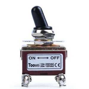 Heavy Duty 20a 125v 15a 250v Dpst On Off 2 Position 4 Termtoggle Switch