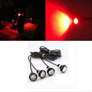 4x Red Led Rock Light For Jeep Atv Off Road Truck Trail Rig Fender Under