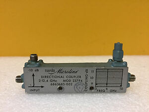 Narda 23794 2 To 12 4 Ghz 10 Db Coupling Sma f Coaxial Directional Coupler