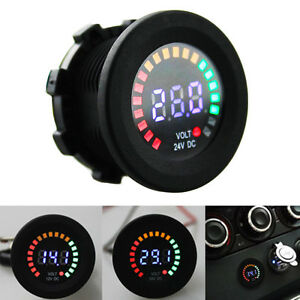 Mini Car Digital Led Volt Gauge Meter Voltage Led Panel Voltmeter Display Dc 24v