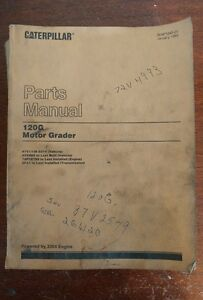 Caterpillar 120g Motor Grader Parts Manual Jan 1985