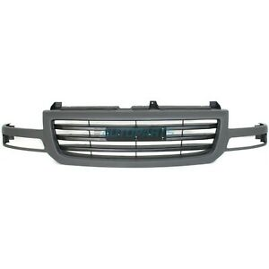 New 2003 2007 Fits Gmc Sierra 1500 Classic Front Grille Gray Gm1200476 19130790