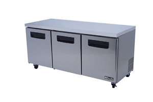 Stainless Steel Under counter Refrigerator 72 X 30