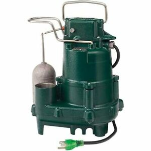 Zoeller M95 1 2 Hp Premium Cast Iron Submersible Sump Pump W Vertical Floa